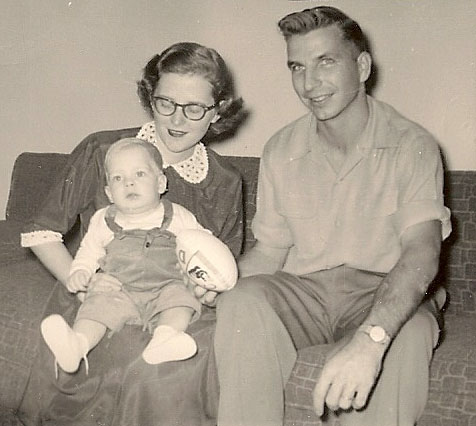 Mother and Daddy in 1956