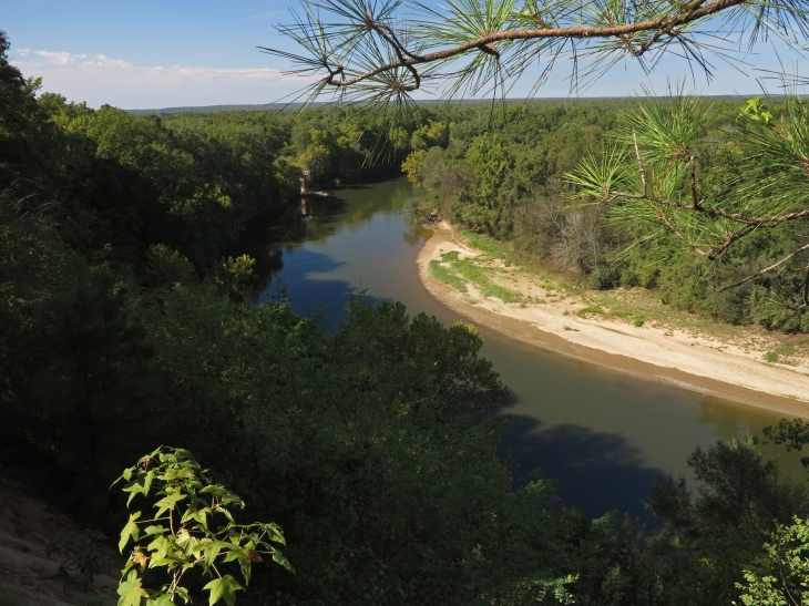The Ouachita River from De Soto Bluff, north of Arkadelphia