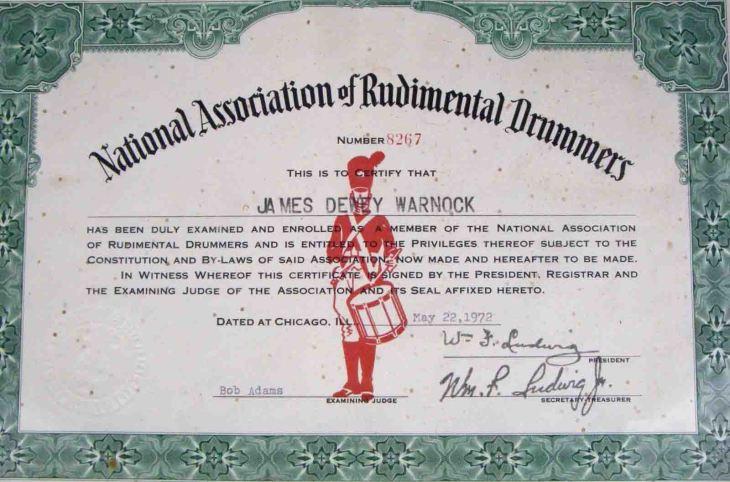 NARD certificate
