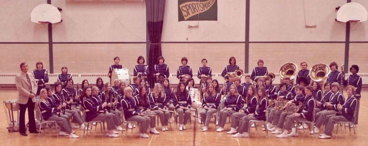 EHS Band 1973 - I'm behind the timpani in white socks because I forgot my band shoes.
