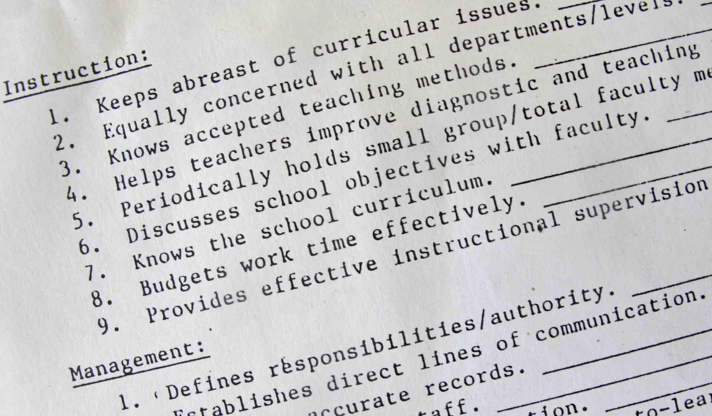 Instructional Leadership Principal Notes