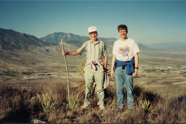 Climbing a mountain in Mexico with my dad in the late 90s.
