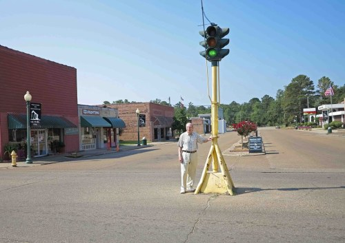 My dad in 2013, at 85, visiting his hometown of Smackover.