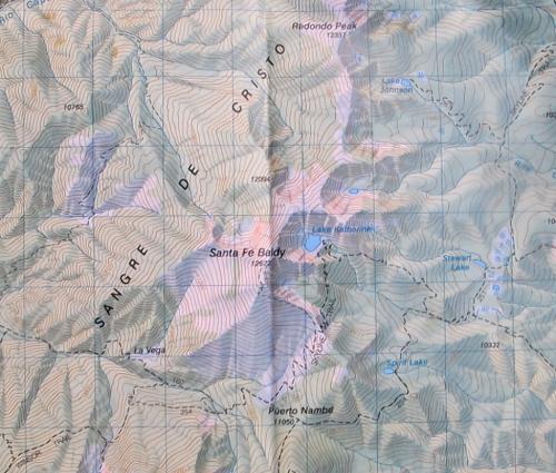 Santa Fe Baldy and Lake Katherine