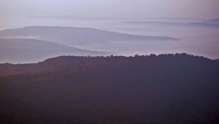 View from mile 43 of the Ozark Highlands Trail