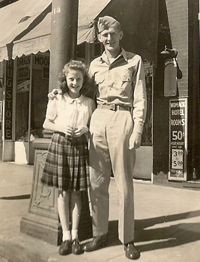 My mother with older brother, Reese Kennedy
