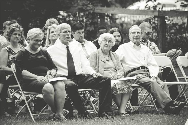 Parents, grandparents, and relatives looking on during the ceremony.  Photo by Elizabeth Sneed