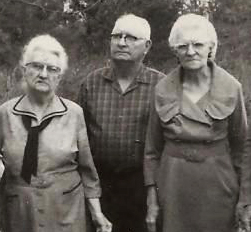 Aunt Nance is on the right, pictured here with siblings Arch Warnock, my grandfather, and Aunt Hettie.