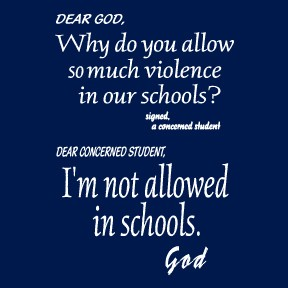 God in school quote